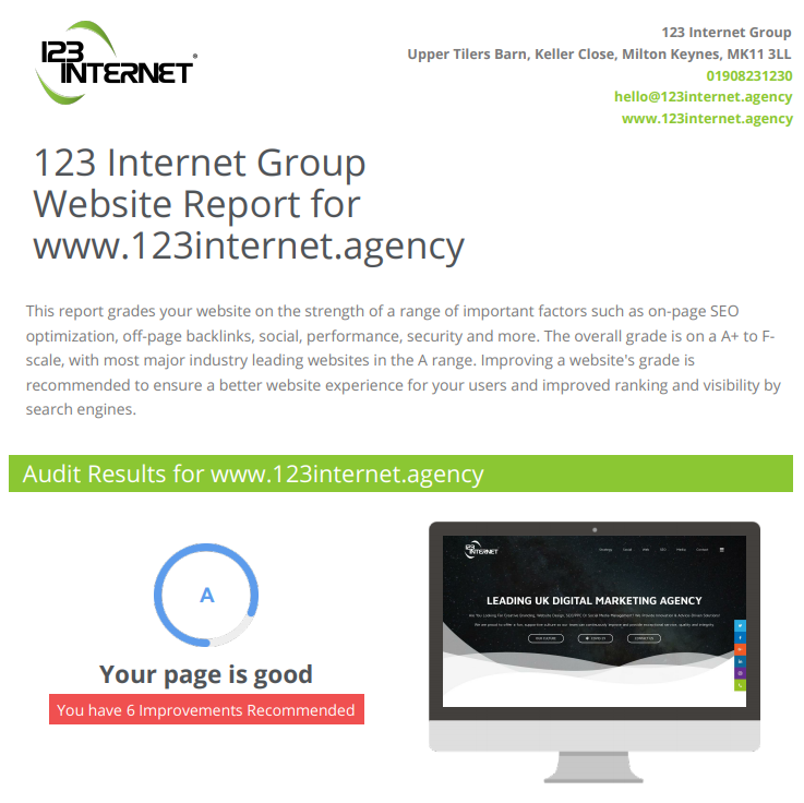 FREE Website, SEO, Social Media, Hosting Audit Report