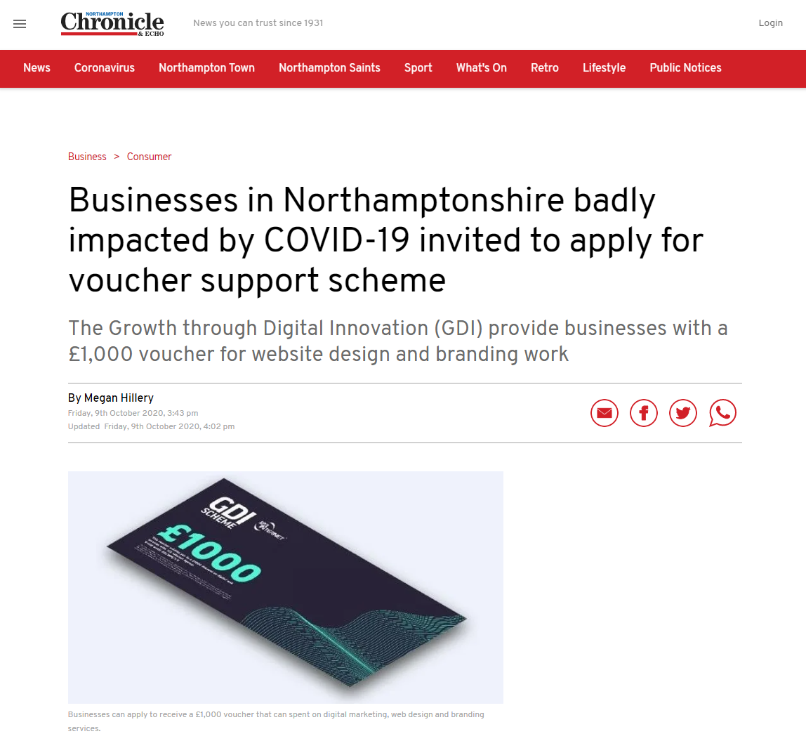 Businesses In Northamptonshire Badly Impacted By COVID 19 Invited To Apply For Voucher Support Scheme